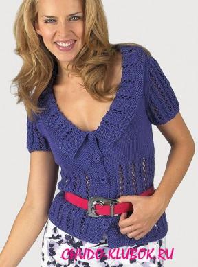 блуза спицами