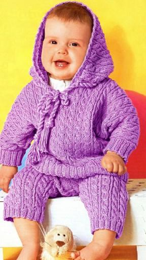 Костюмчик для малыша сиреневого цвета 15