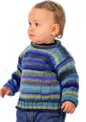 Пуловер сине - зеленого цвета 37