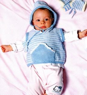 Безрукавка с капюшоном для малыша 7