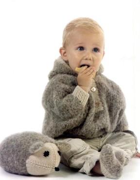 Набор для малыша: пончо, носочки и игрушка-мышка 7