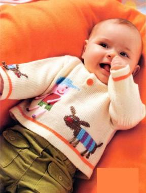 Пуловер с узором 32