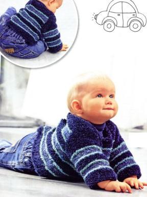 Пуловер с застежкой на спине 36