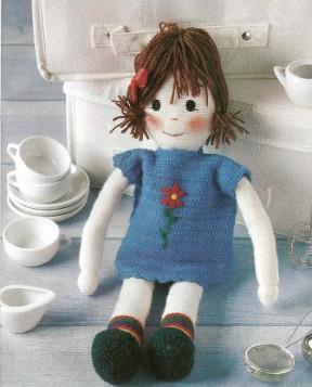 Вязанная кукла 3