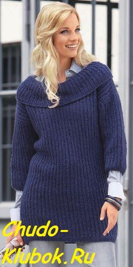Пуловер с рукавами 3 4