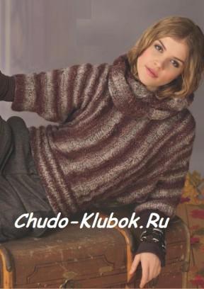 Пуловер с отдельным воротником