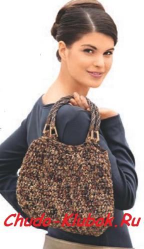 Коричневая меланжевая сумочка
