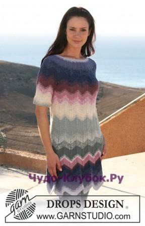 81 Платье с зигзагообразным узором