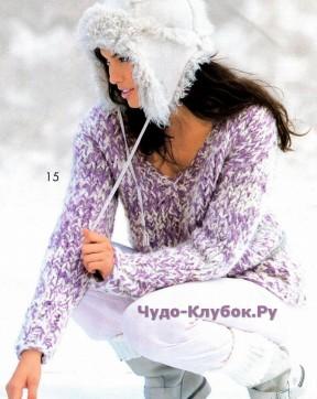 166 Меланжевый пуловер