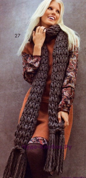 100 Серый шарф