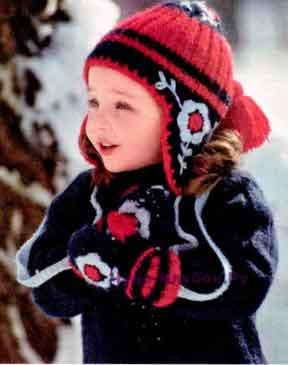 Зимний комплект для девочки 18