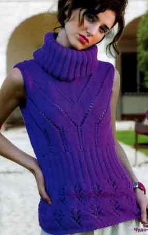 448 Пуловер без рукавов