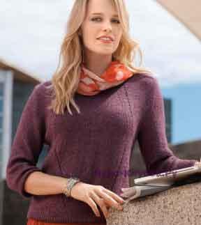 364 Бордовый пуловер