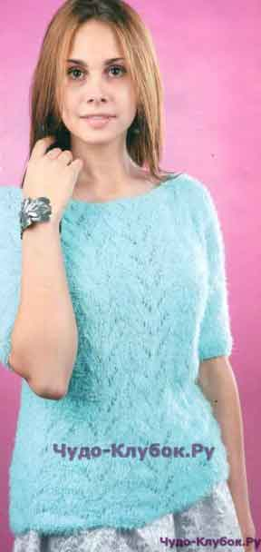 426 Бирюзовый пуловер