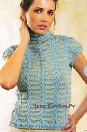 368 Пуловер с короткими рукавами