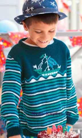 Пуловер с парусником 21