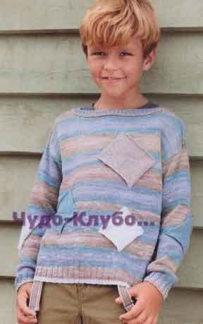 Пуловер с заплатками 27