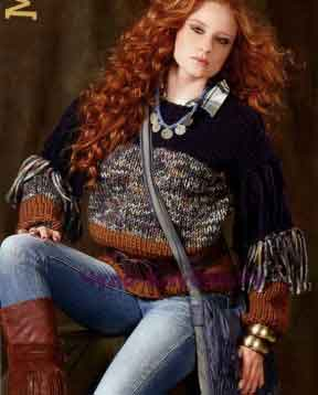 370 Трехцветный пуловер