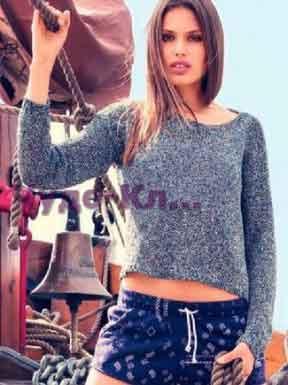 492 Серый пуловер