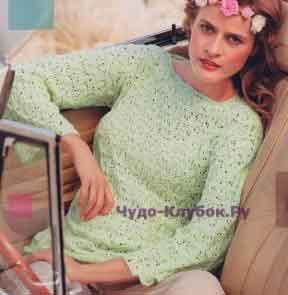 493 Пуловер мятного цвета