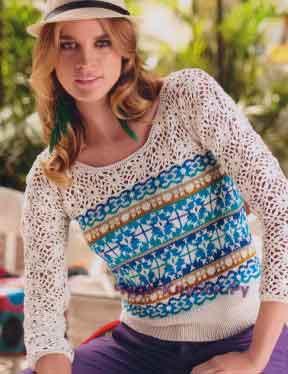 525 Пуловер в стиле бохо