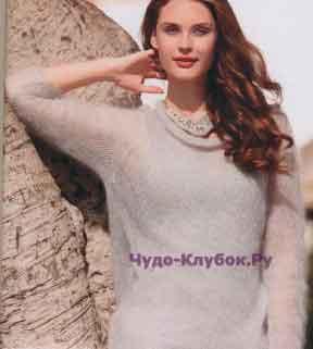 513 Пуловер светло-серый