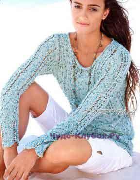 556 Ажурный пуловер