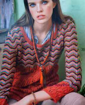 602 Удлиненный пуловер