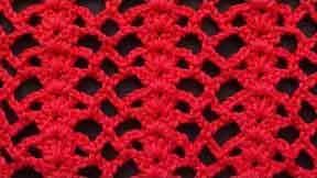 Ажурный узор вязания крючком 73