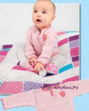 Пуловер с сердечком для младенца 10