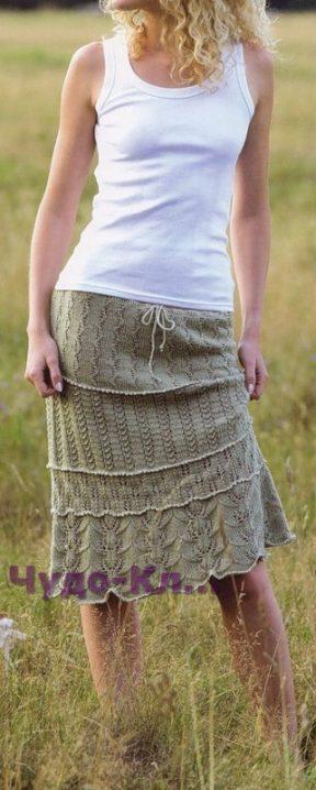 54 Ажурная многослойная юбка