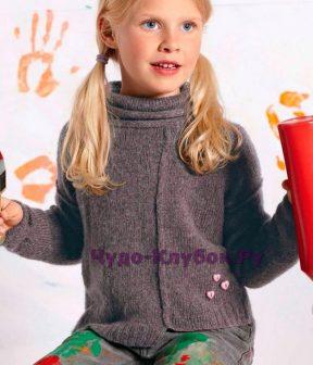 Детский асимметричный пуловер 4