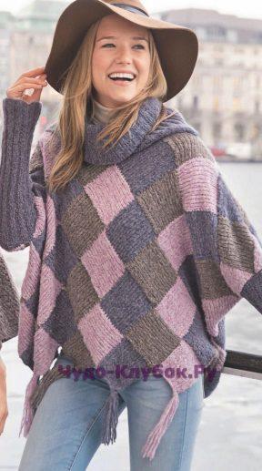 807 Пуловер-пончо