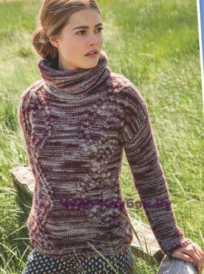 806 Меланжевый свитер