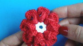 Урок 9 Вязание цветка крючком