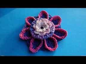 Сложный цветок Урок 66