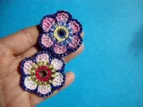 Цветы с контрастной отделкой Урок 62