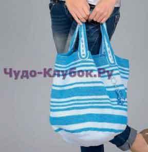 Сине-голубая сумка 82