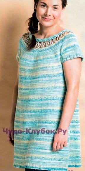 Меланжевое платье-туника 649
