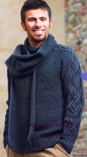 Пуловер и шарф 126