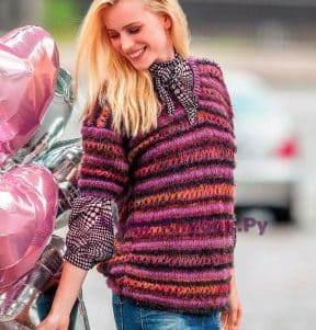 Пуловер с короткими рукавами 1515