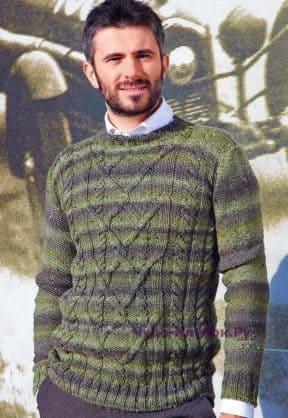 Пуловер с косами 118