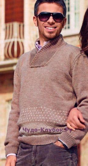 Пуловер с жаккардовым узором 122