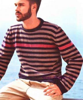 Пуловер в полоску 123