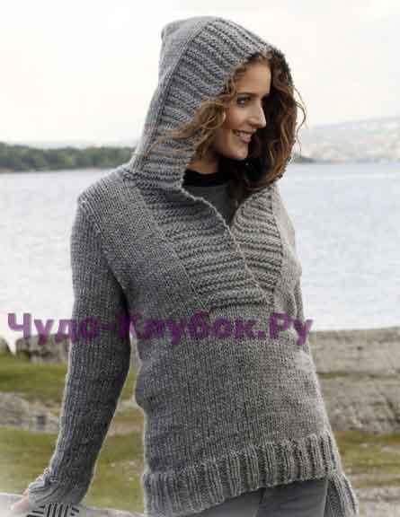 Пуловер с капюшоном 113