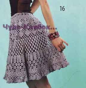Ажурная юбка 139