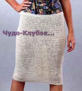 Льняная юбка 141
