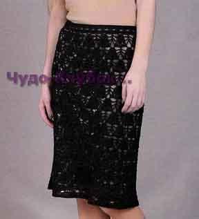 Черная юбка 146