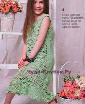 Легкое ажурное платье 26