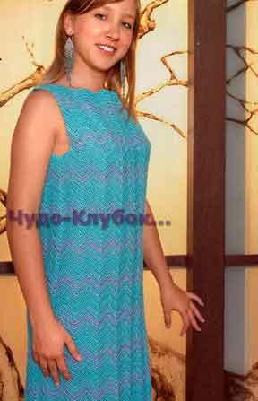 Платье с волнистым узором 665